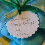 Dear Amy, Happy Spring!