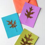 DIY Fall Leaf Cards