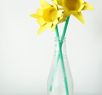Recycled Toilet Roll Daffodils
